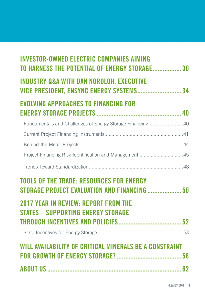 Energy Storage: 2017 Year in Review